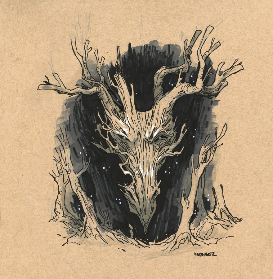 06-Cyr-nyth-The-Mystic-Brian-Kesinger-Drawings-that-Show-the-Kinder-Side-of-Dragons-www-designstack-co