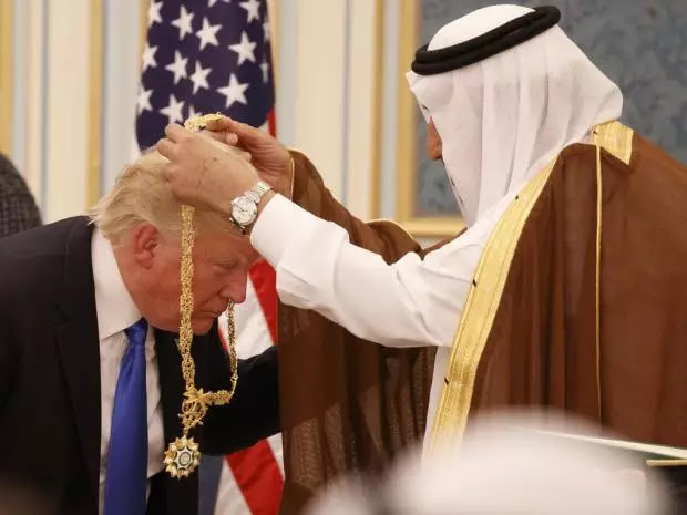 TRUMP GOT SAUDI GOLDEN HIGHEST CIVILIAN HONOR