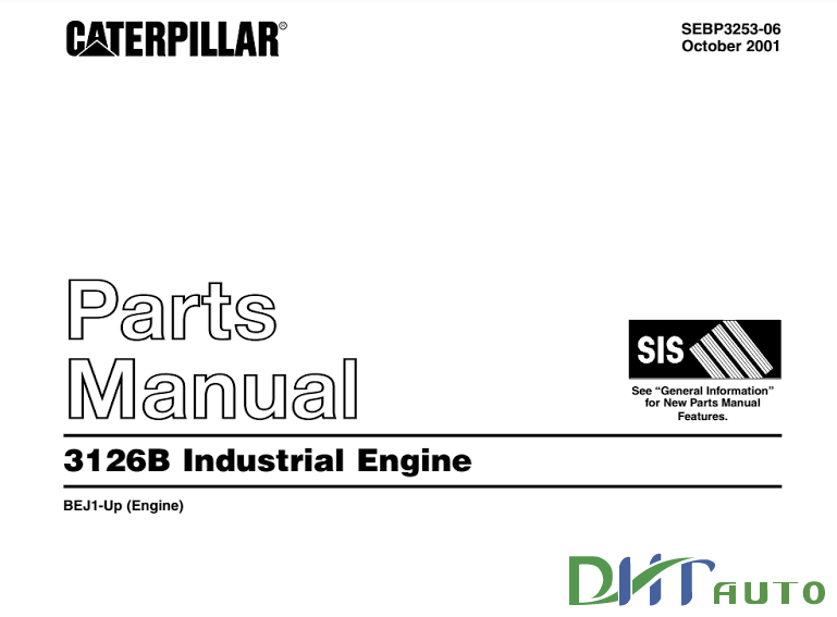 Caterpillar 3126b Industrial Engine Parts Manual
