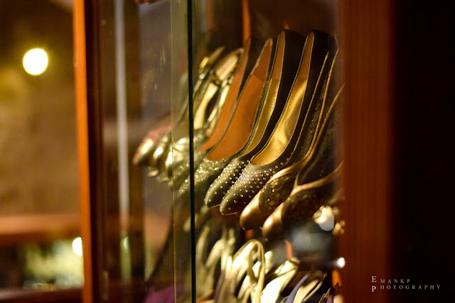 One of the many shelves housing Imelda's shoe collection. 2