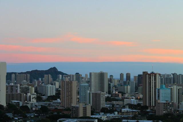Sunset in Honolulu, Hawaii