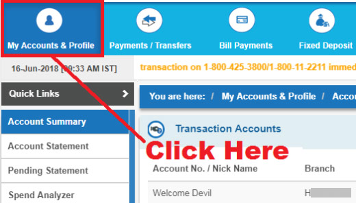 how to enable high security password in onlinesbi