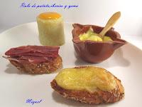 Rulo de patata, ibérico y yema