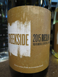 Creekside Marianne Hill Riesling 2015 (88+ pts)