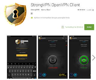 StrongVPN Di Android