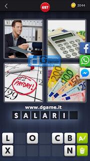 4 Immagini 1 Parola soluzione livello 697
