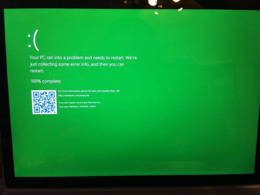 La storica Schermata Blu di Windows (BSOD) diventa Verde (GSOD) HTNovo