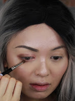 Blend it softly to lower outer lashline too