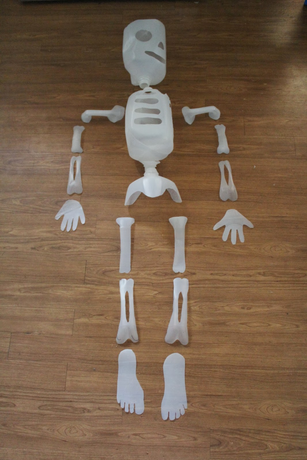 how to make a skeleton out of milk cartons