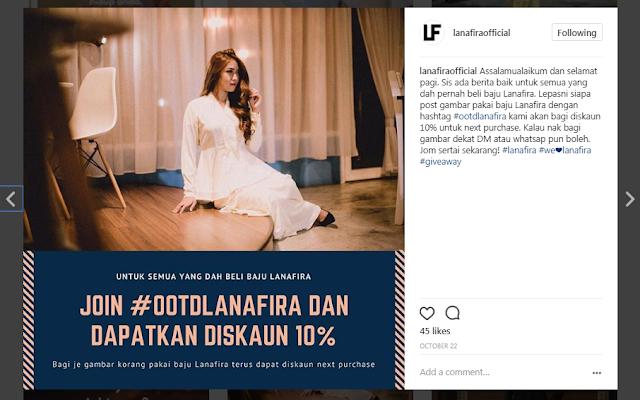 Butik muslimah online Lanafira