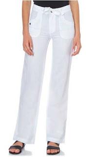 pantalones lino blanco