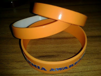 Custom Orange Leukemia Wristbands
