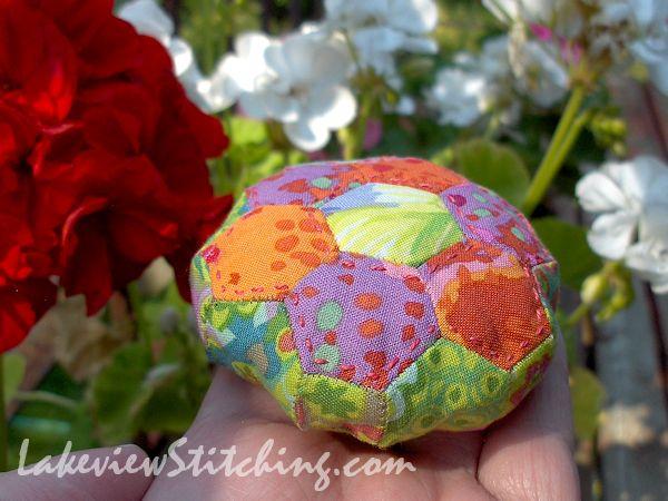 Lakeview Stitching: Hexie Pincushion