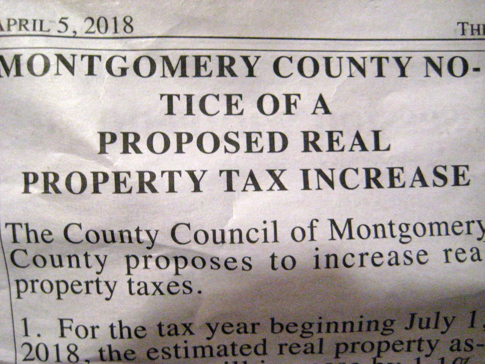 Takoma Park Property Tax Rate