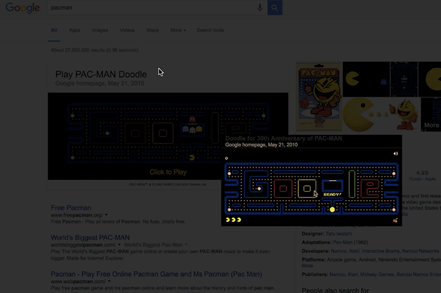Top 5 Juegos Escondido En El Buscador De Google Pcwebtips