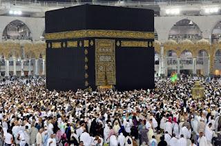 Source: Centre for Government Communications, KSA.  Pilgrims circumnabulating the Ka'abah.