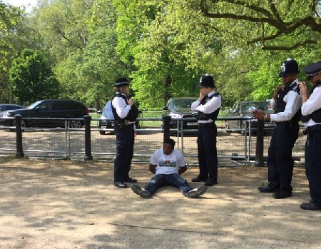 2 nigerians biafrans arrested buckingham palace london