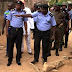 Police Parade Dismissed Soldiers For Alleged Turbine Theft