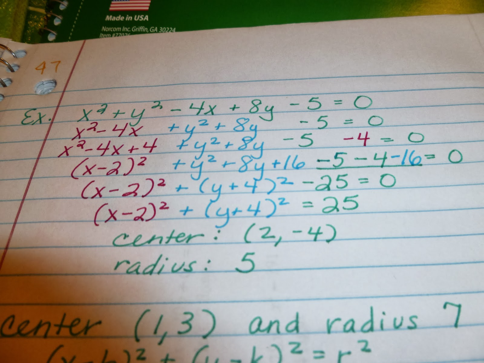Learning With Tape Algebra 2 Pages
