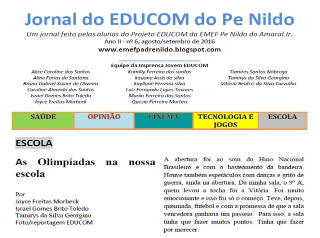 http://issuu.com/emefpadrenildodoamaraljr./docs/jornal_do_educom_03_agosto_setembro