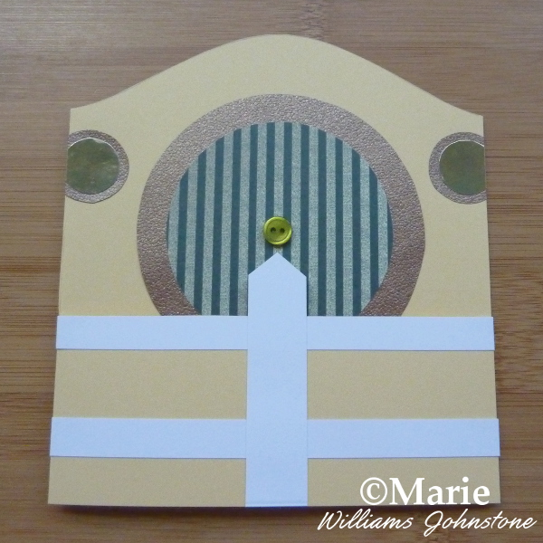 Starting to make the white picket fence on the front of the inspired Hobbit house card design