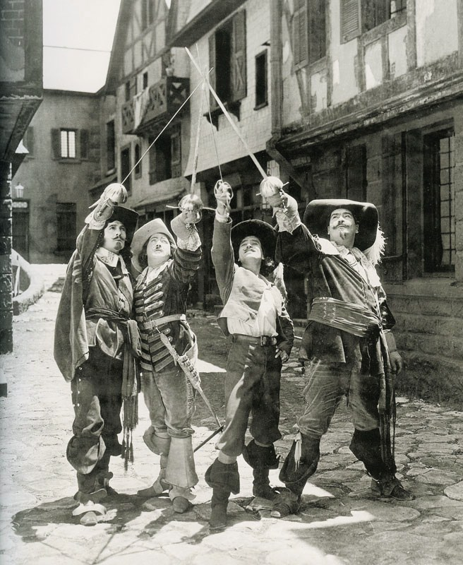 Photo from the 1927 Film Adaptation of The Three Musketeers by Alexandre Dumas | Lydia Sanders #TwistyMustacheReviews