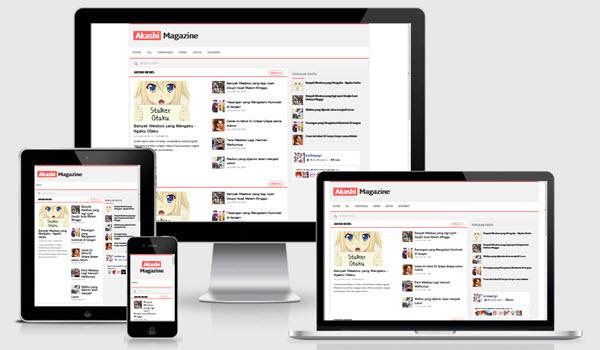 Akashi blogger template responsive Magazine