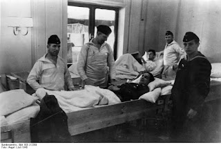 Wounded soldiers at the Wilhelm Gustloff