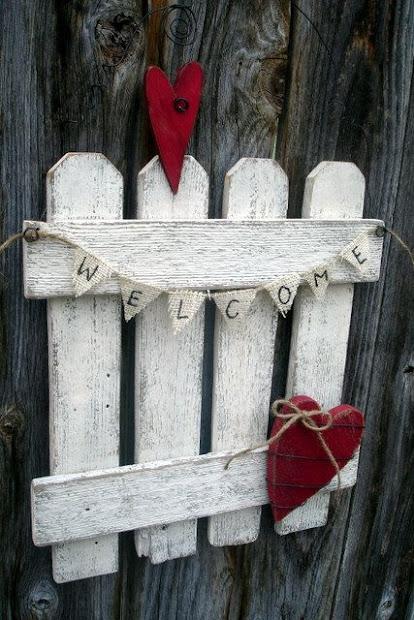 rustic valentine door hanging
