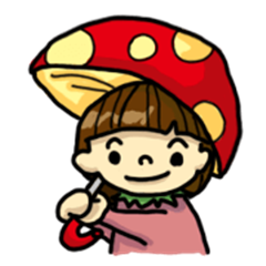 Raspberry girl and shiitake mushrooms