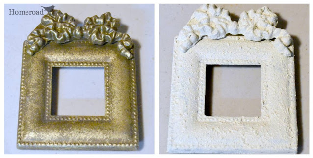 2 frames: gold and white painted