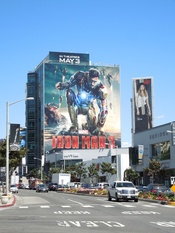 Giant Iron Man 3 billboard
