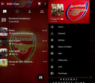 Download bbm arsenal Apk