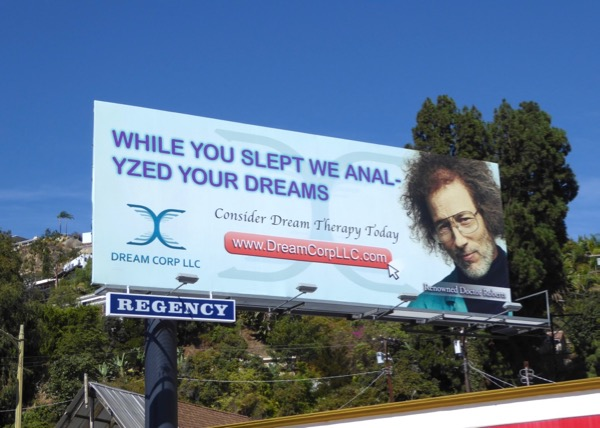 Dream Corp LLC While you slept we anal-yzed your dreams billboard