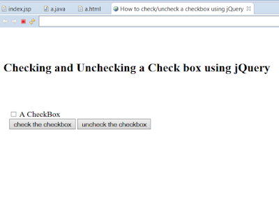 How to Check/Uncheck CheckBoxes in a Page using jQuery? Example Tutorial