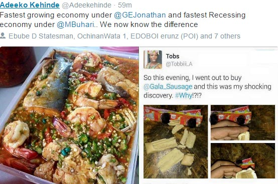 Twitter user compares GEJ and Buhari regimes