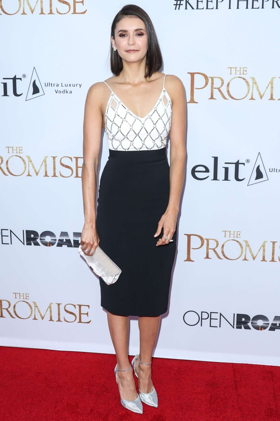 Nina Dobrev goes stylish for The Promise premiere in LA