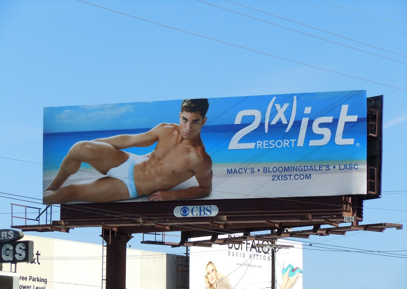 2xist Andre Ziehe underwear model billboard