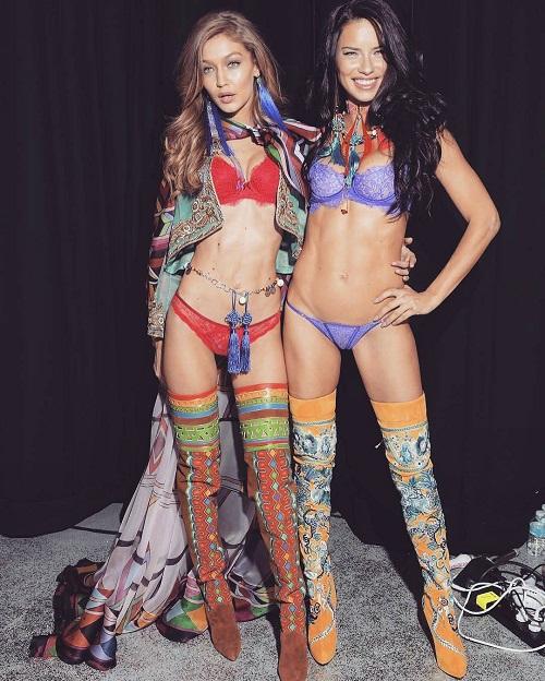 Adriana Lima with Gigi Hadid