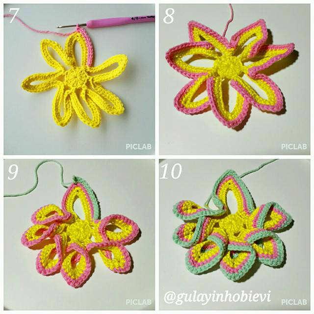 Cómo Tejer Agarradera a Crochet con forma de Estrella / Paso a Paso ...