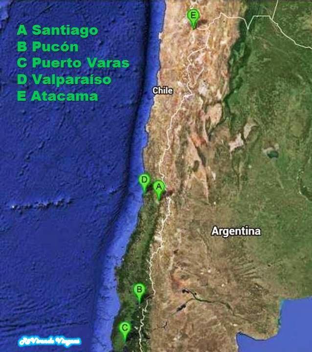 Mapa do chile