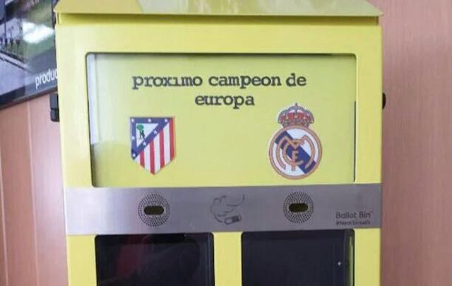 Madrid copia las papeleras para colillas de Londres para la Final de Champions