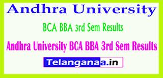 Andhra University BCA BBA 3rd Sem Results
