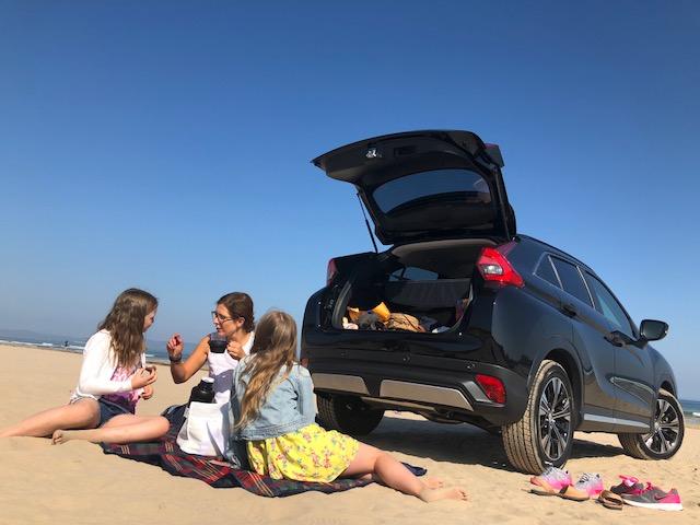 Mitsubishi on the beach