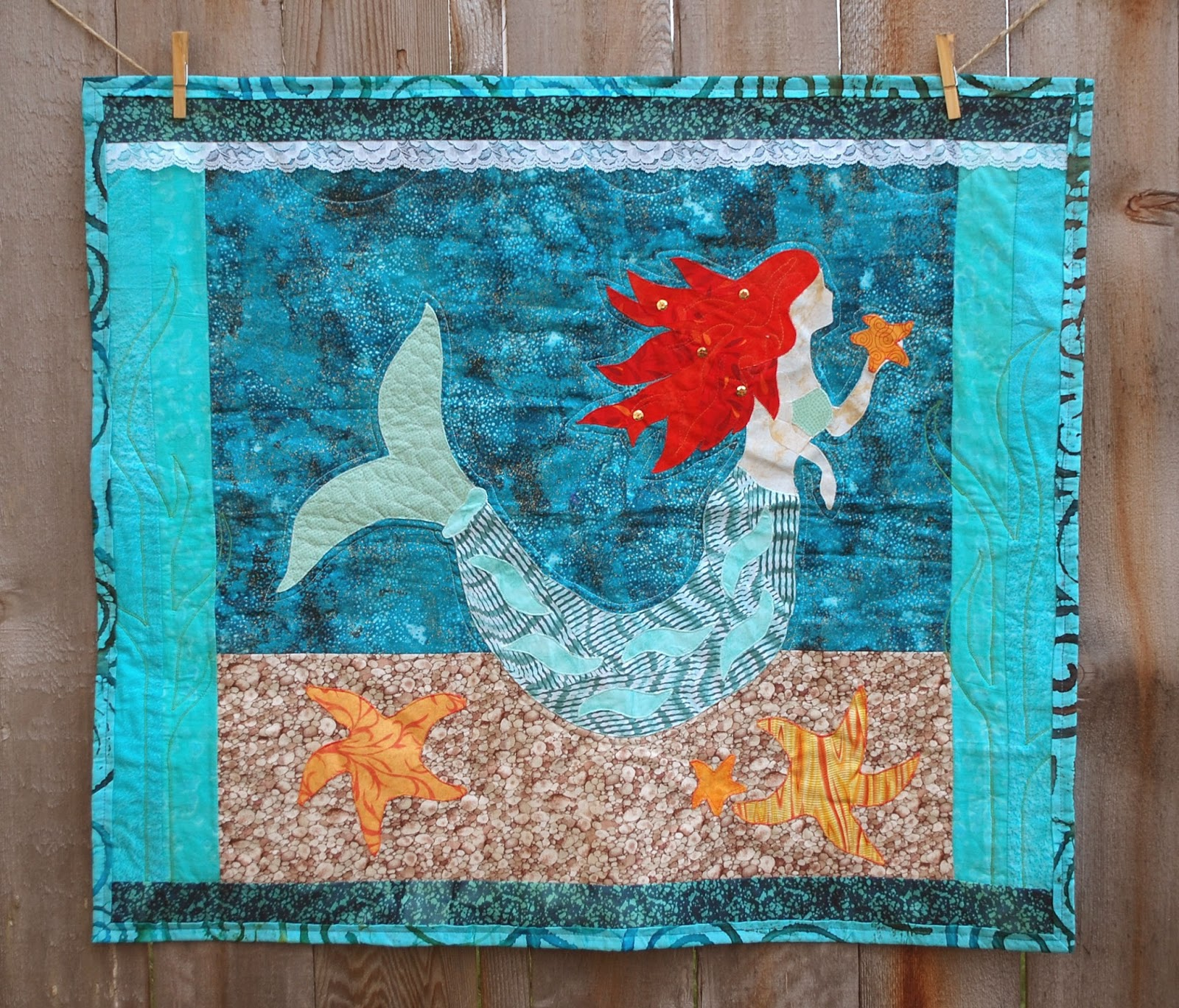Little Mermaid Wall Quilt