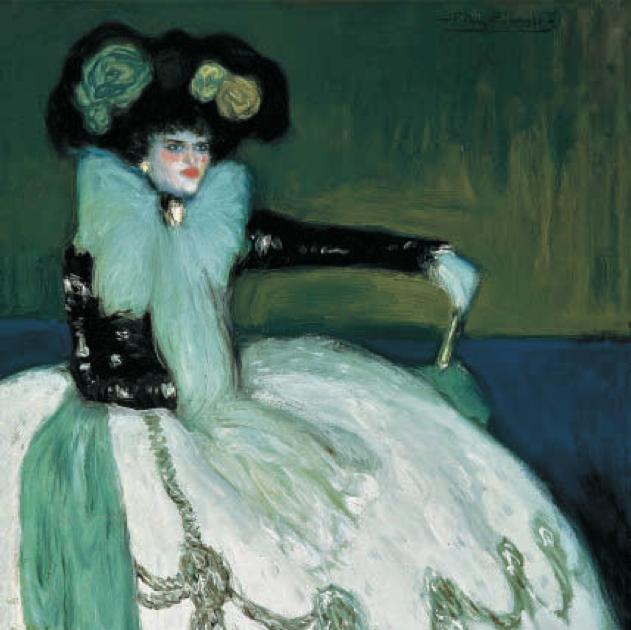 Desde el otro lado del cuadro: Mujer en azul - Pablo Picasso