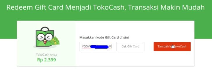 saldo tokocash gratis 200 ribu