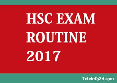 hsc exam routine 2017