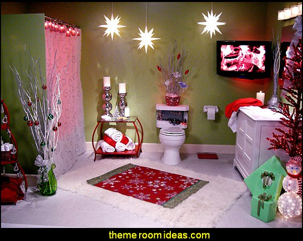 christmas bathroom decorating-christmas theme decorating ideas