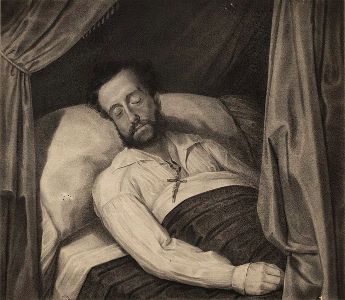 Pedro I of Brazil on his deathbed, 1834